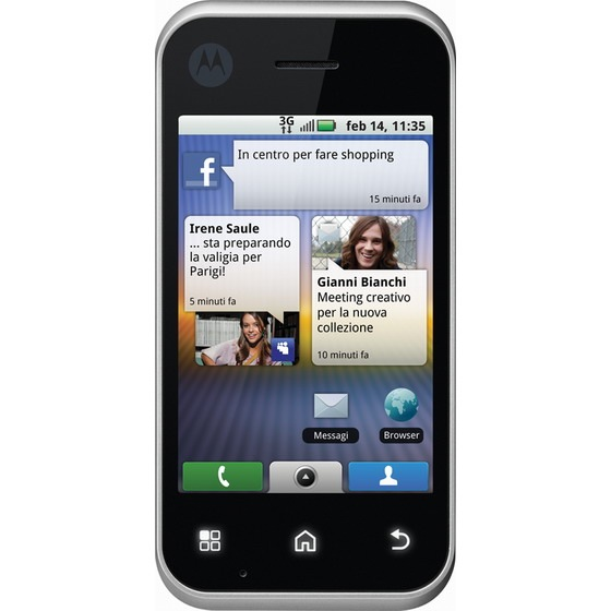 Motorola BackFlip llega a Italia