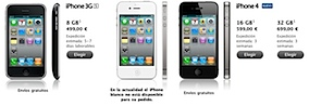 iphone 4 3gs libres espaa
