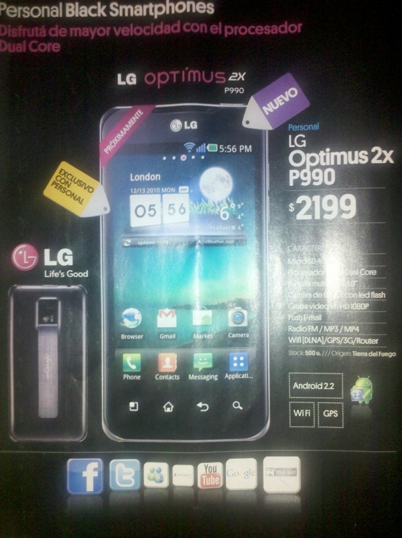 Personal LG Optimus 2X