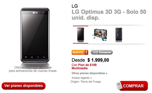 lg optimus 3d claro preventa