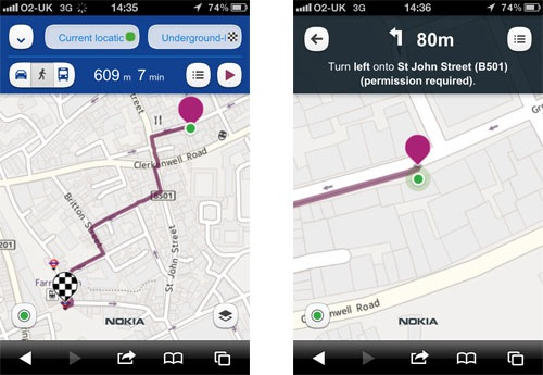 nokia maps ios android