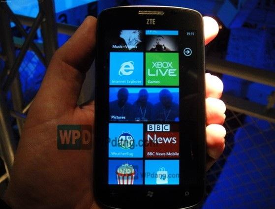 ZTE Mimosa corriendo Windows Phone Tango aparece en foto