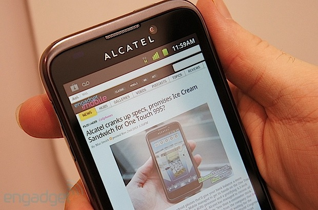 Alcatel ot-995 android