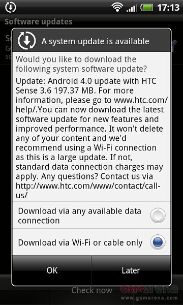 htc sensation xl ics