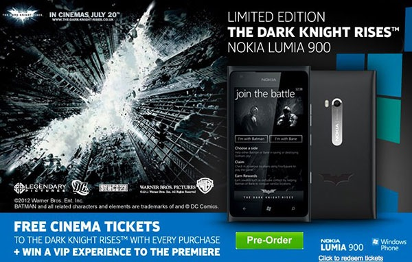 nokia lumia 900 the dark knight rises