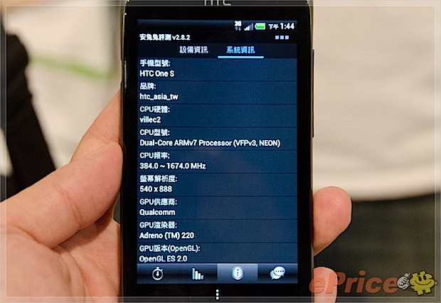 HTC One S Taiwan