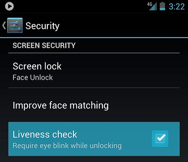 liveness check Face Unlock