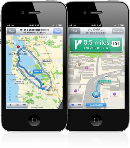 turn by turn iOS 6
