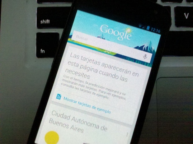 jelly bean Google Now tarjetas