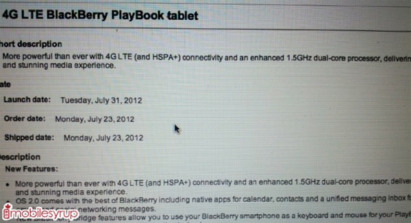 playbook 4g bell
