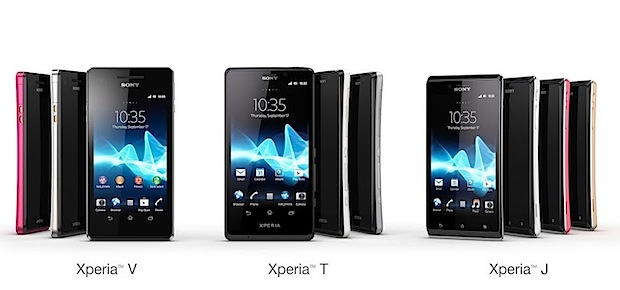 Xperia T, J, V