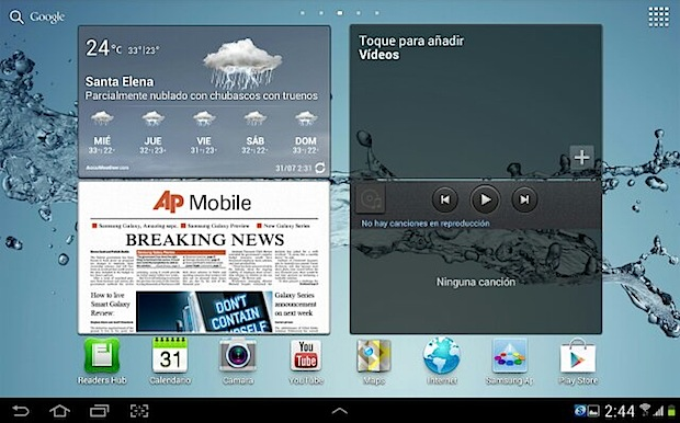 ICS galaxy tab 10.1