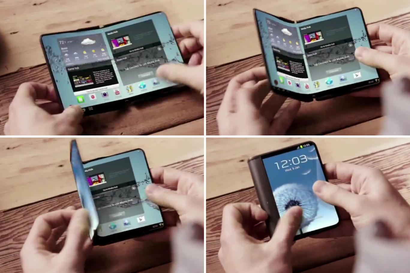Samsung confirma la concreción de tecnología plegable para smartphones