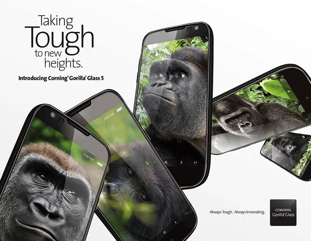 corning anuncia gorilla glass 5