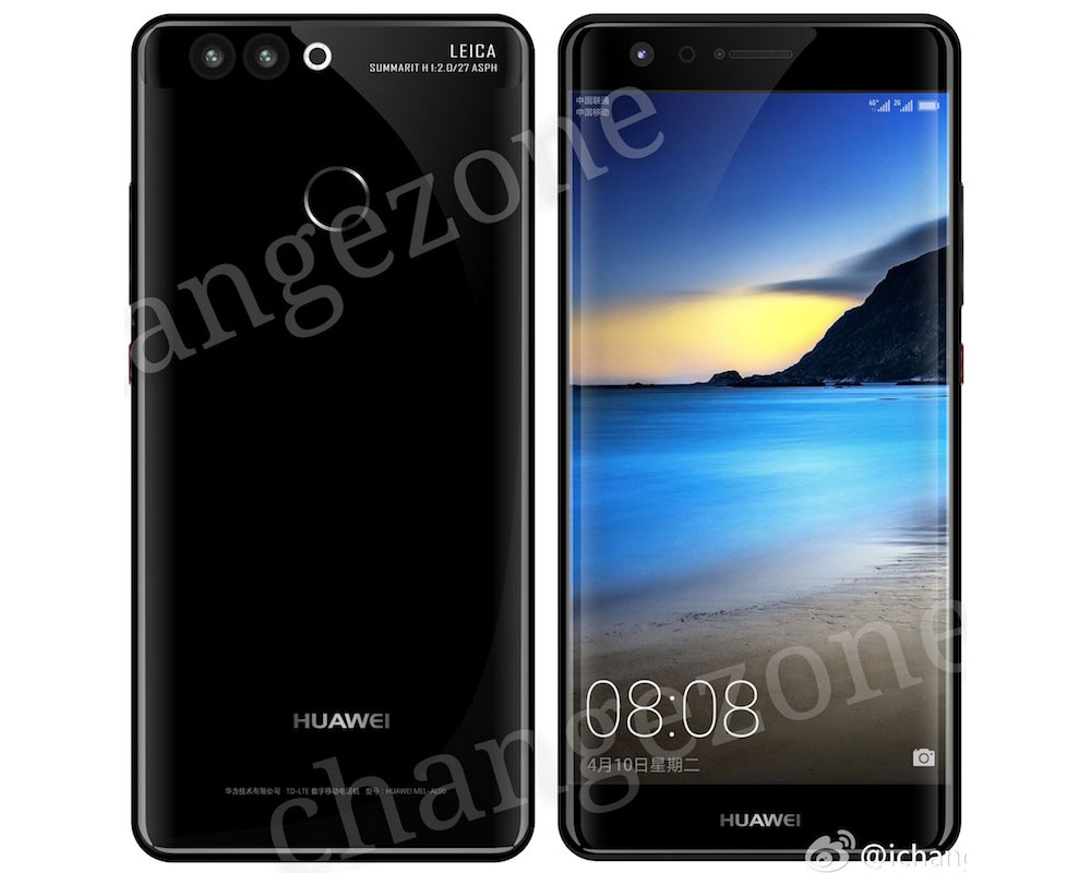 Huawei P10 con pantalla curva se filtra nuevamente, esta vez sin botón de inicio