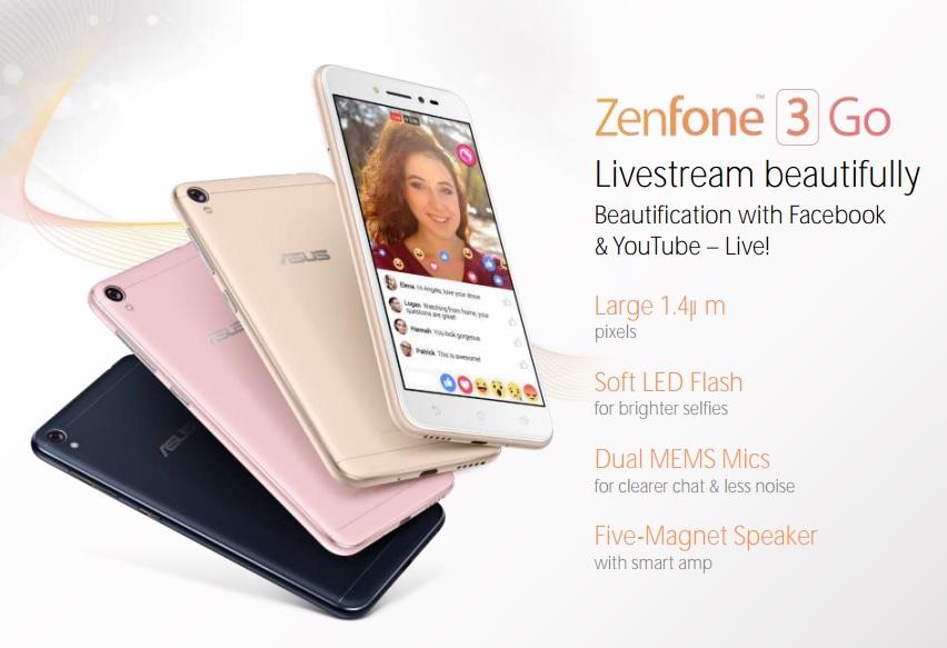 Asus Zenfone 3 Go se filtra en imagen y características