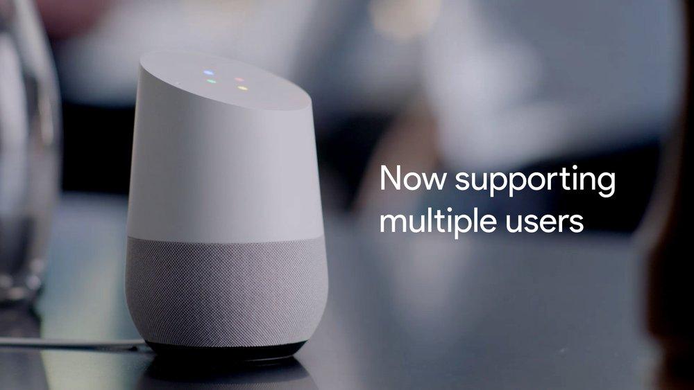 Google Home agrega soporte para múltiples usuarios
