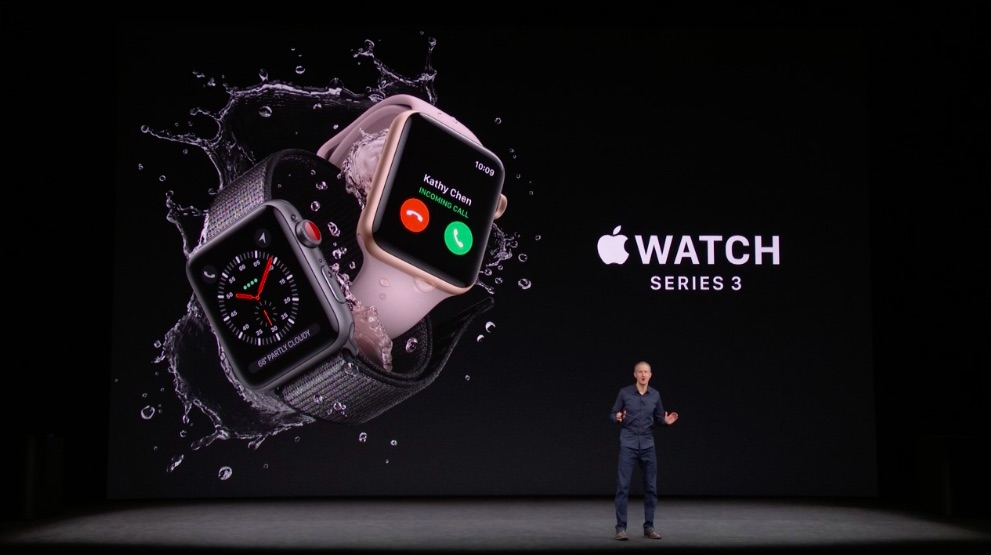 Se anuncia oficialmente la Apple Watch Series 3