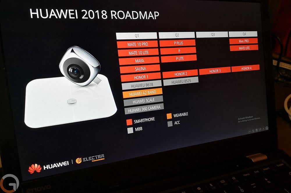 Huawei decide publicar toda su ruta de lanzamientos de smartphones para este 2018