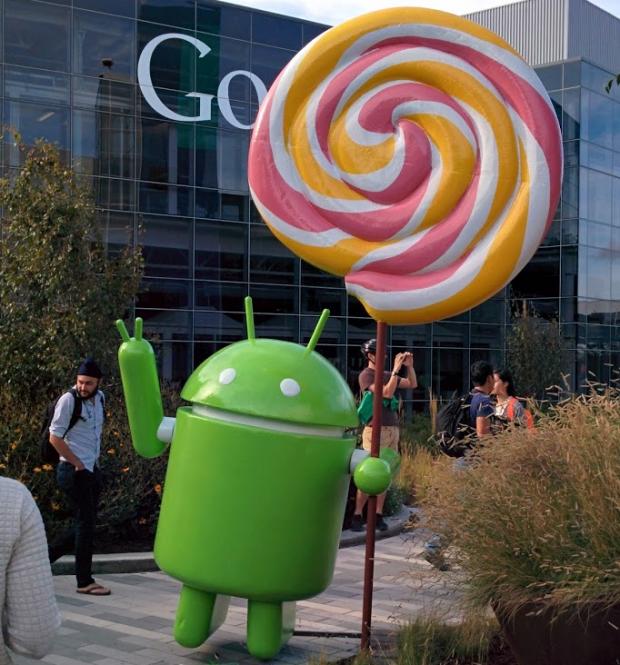 Android Lollipop ya tiene su estatua en Google