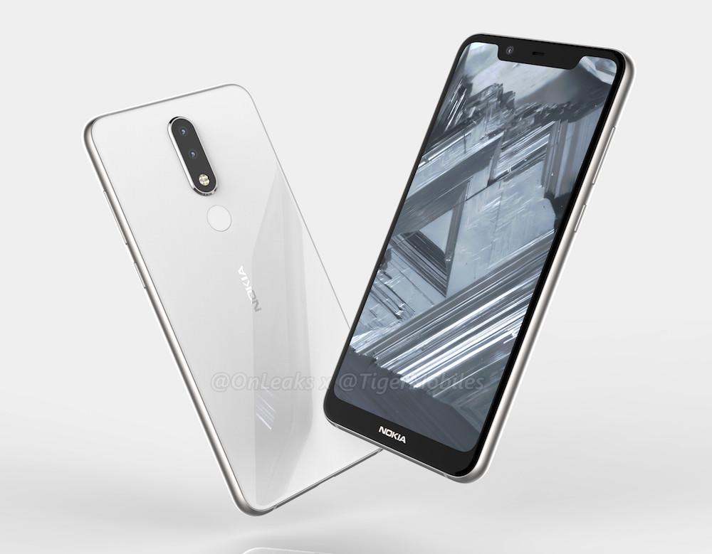 Nokia 5.1 Plus con notch se filtra en renders
